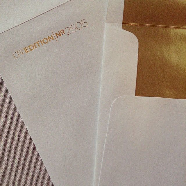 Yes, you can foil stamp your envelopes. #Gold