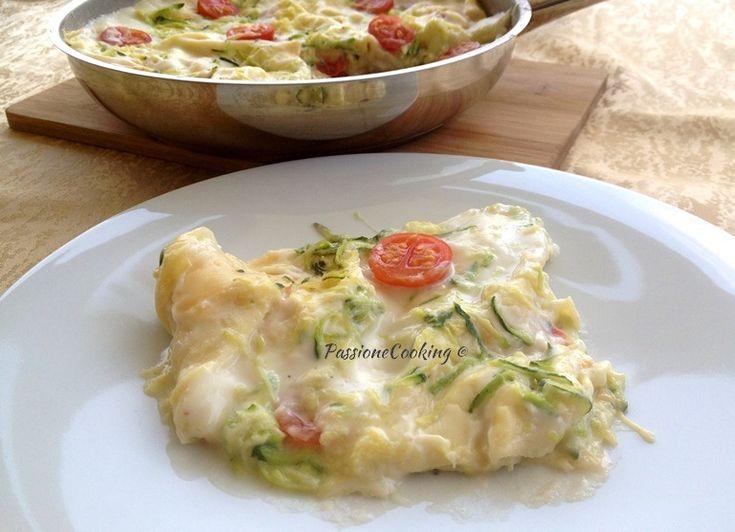 Lasagne in padella con zucchine e pomodori