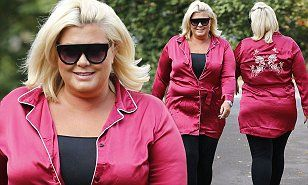 Gemma Collins rocks red pyjama top as she heads into TOWIE filming | Daily Mail Online