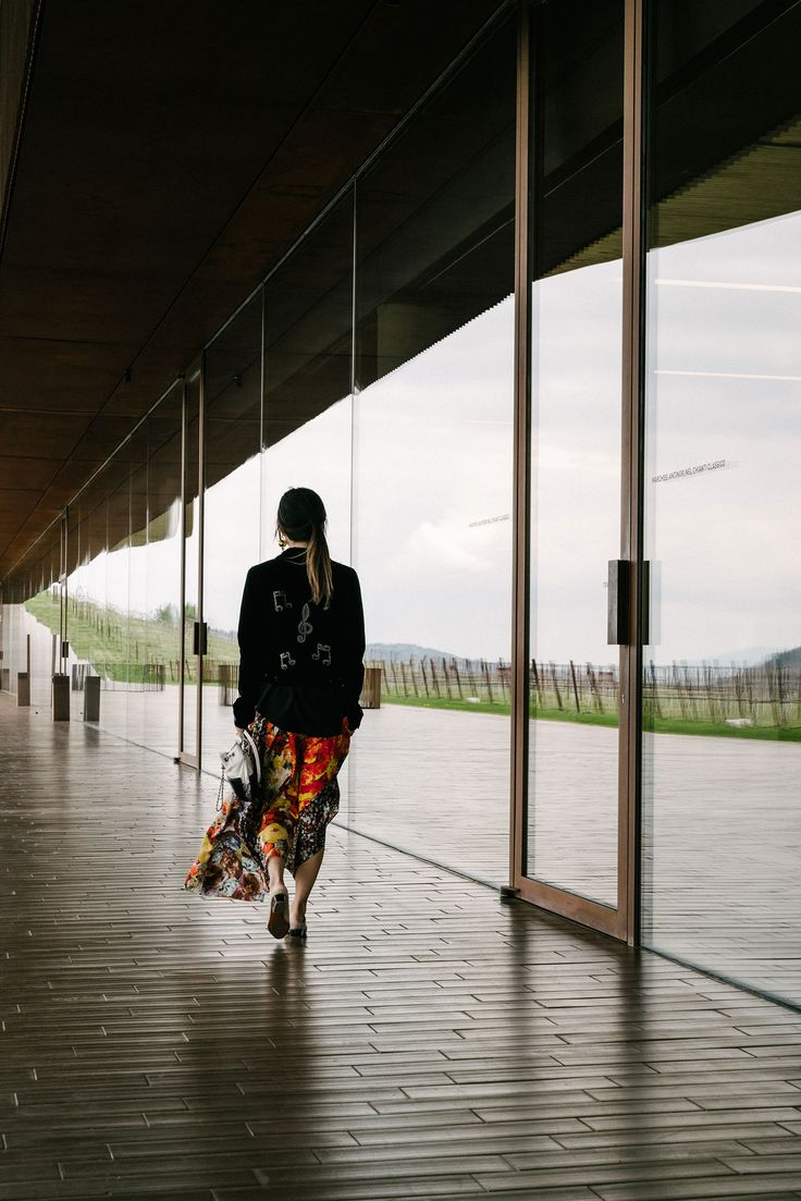 Saint Laurent Jacket, Acne Studios Skirt, Aquatalia Shoes, Chanel Bag, Loewe Earring via @eggcanvas