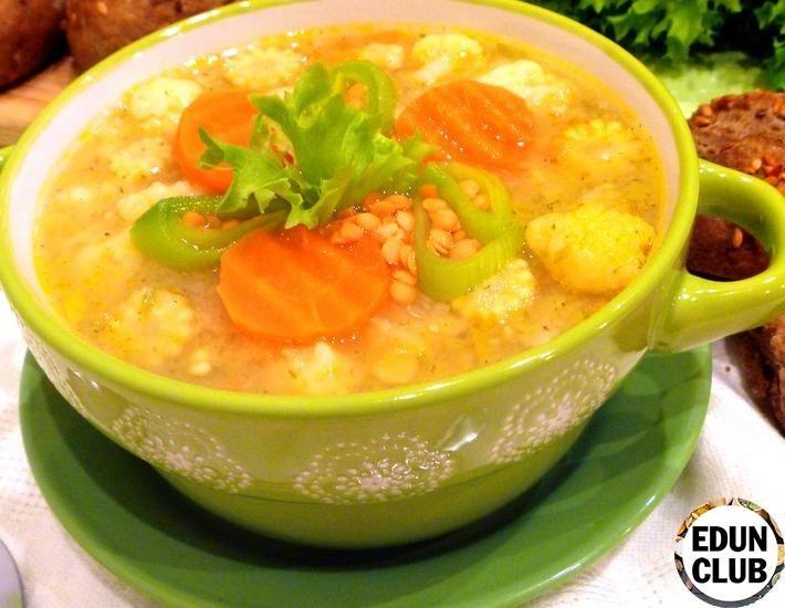 Овощной суп с чечевицей | Рецепт | Питание рецепты ...