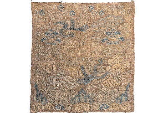 Gongjak-hyungbae (Peacock Insignia) | Jung Eung-doo's, Chungjung-gong(title), 1508~1572년 | Excavated in Goyang, Gyeonggi-do(1988) | Seok Juseon Memorial Museum, Dankook University
