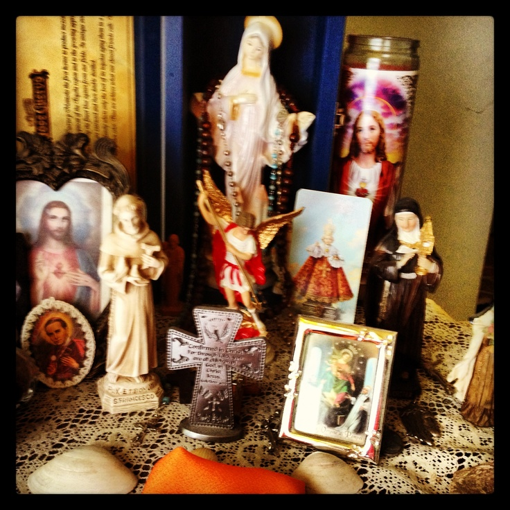 17 best images about home altar ideas on pinterest divine mercy catholic art and altars - Home altar designs ...