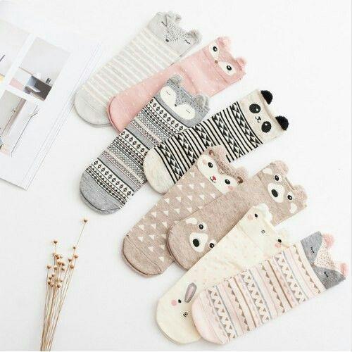 Милые носочки с русунком животных мардашек #носочки #мило #милые