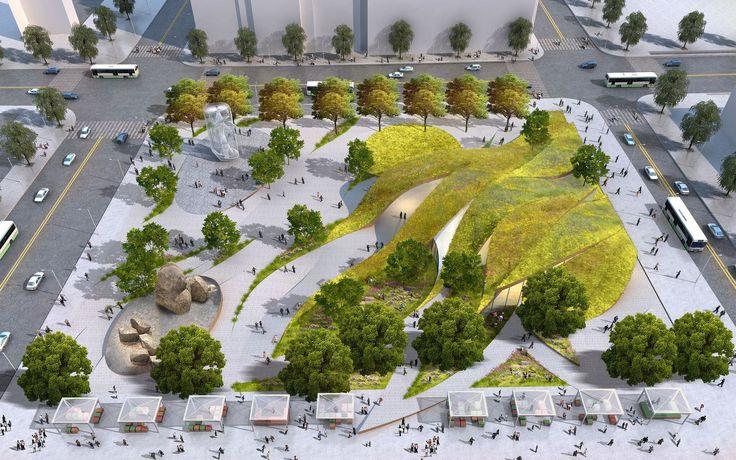 Galeria de Brooks + Scarpa revelam sua proposta para novo parque no centro de Los Angeles - 4
