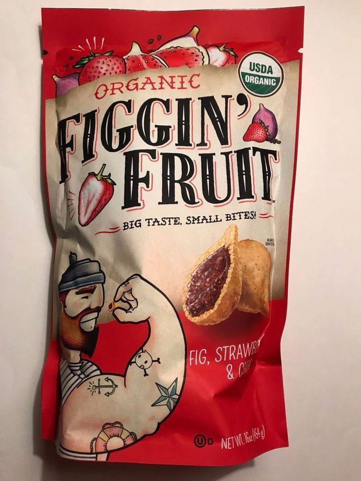 Organic Figgin' Fruit Bites Fig Strawberry Chia Snacks 16oz Jumbo Bag 454g Vegan #HelloDeliciousBrands