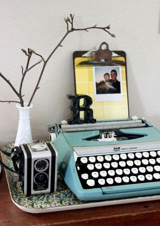 Decorar Mesa Libro De Firmas Con Maquina De Escribir