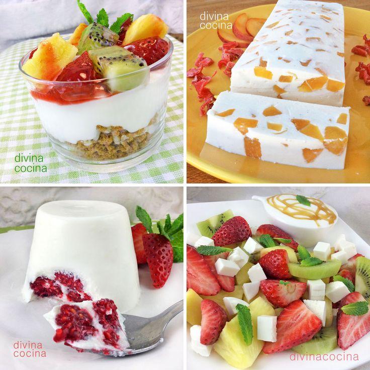 10 postres con fruta fresca