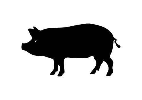 free pig silhouette vector | Silhouette Clip Art ...