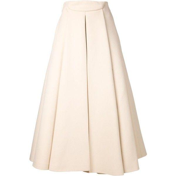 Delpozo Pleated Skirt (€3.055) ❤ liked on Polyvore