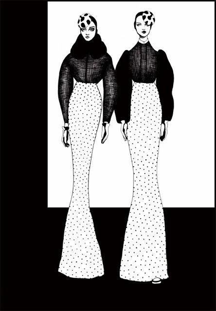 Stylish black & white fashion illustration // Bijou Karman