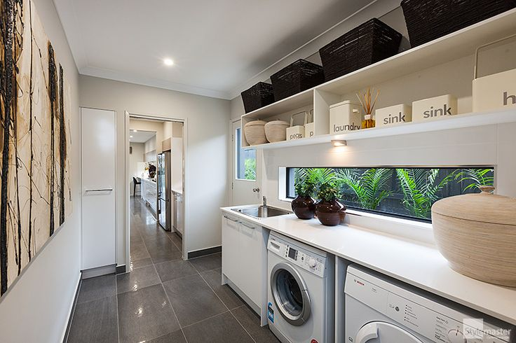 Winner - Brisbane's Best Laundry Design (2014 HIA Housing Awards) in the Milan by Stylemaster Homes