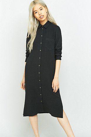 Light Before Dark - Robe chemise midi oversize
