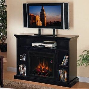 Enjoy watching football or basketball with an Electric Fireplace Media Console.