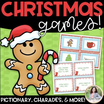 Christmas Charades and More! {70 Song, Phrase, & Picture Cards, 5 games in 1!}