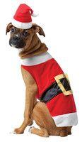 Pet Santa Claus Saint Nick Dog Christmas Costume Suit