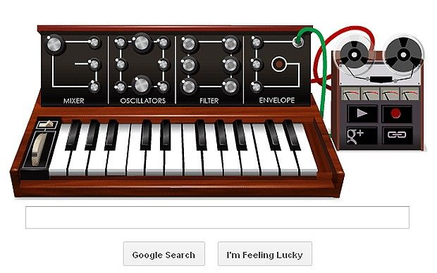 Robert Moog's 78th Birthday. Go to www.google.com.  This is today's doodle and it's interactive. HOT!!!: 78Th Birthday, Electronic Music, Robert Moog, Bobs Moog, Moog 78Th, Google Doodles, Electronics Music, Moog Synthesizers, Robertmoog