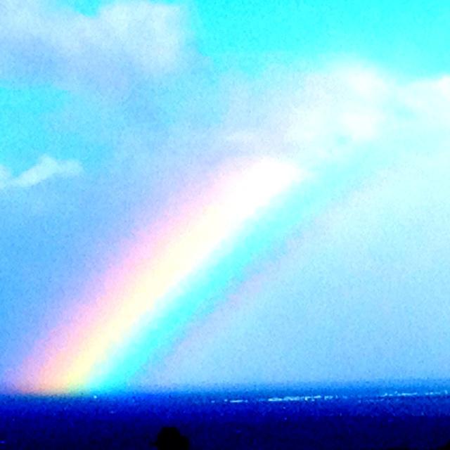 Rainbow over Kahului harbor Maui