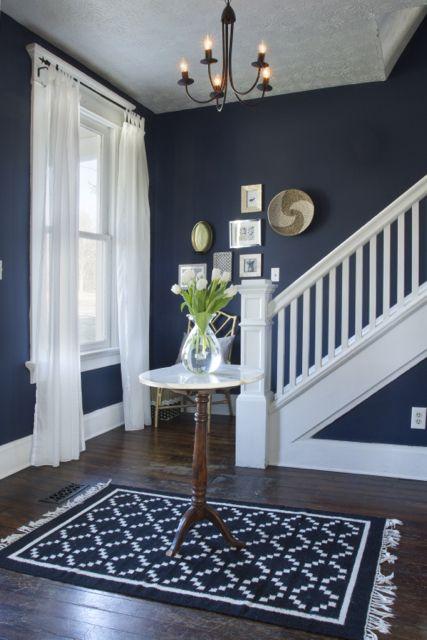 Small Blue Foyer : Ideas about window moldings on pinterest