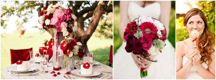 Inspiration For A Red Themed Wedding