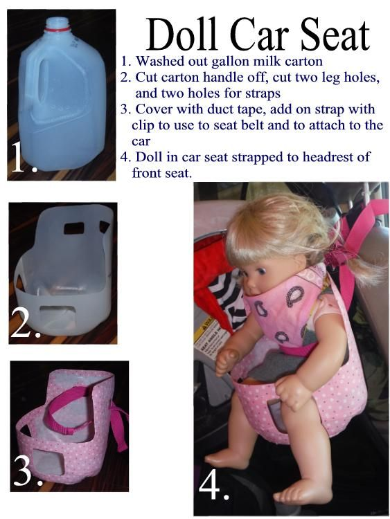 A doll car seat will fit 15 and 18 inch dolls.  It might fit a little smaller but not really any bigger of a doll.  I made two in one afternoon nap time.