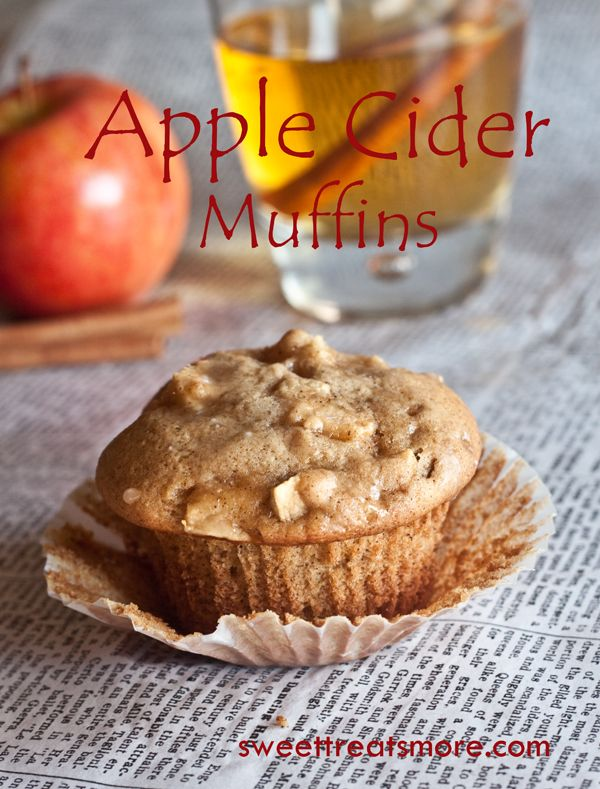 Sweet Treats and More: Apple Cider Muffins (wonder if I can make these Paleo?? lol they look DELICIOUS!)