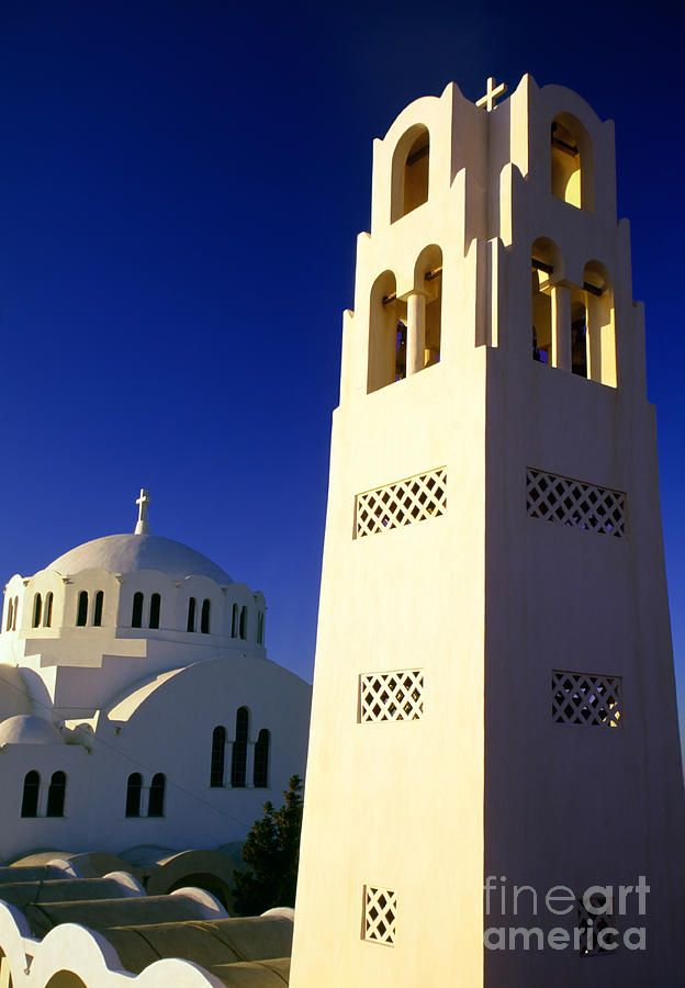Cathedral of Fira town in Santorini