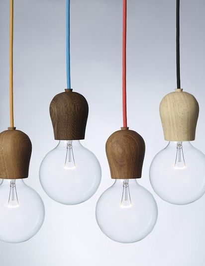Bright Sprout combines clever design with natural material to create a simple functional pendant light that you can customise.  Bright Sprout is a wooden fixture designed to hide the light bulb sockets on energy saving bulbs. With its soft, Nordic design it turns an important everyday function into an aesthetic experience.