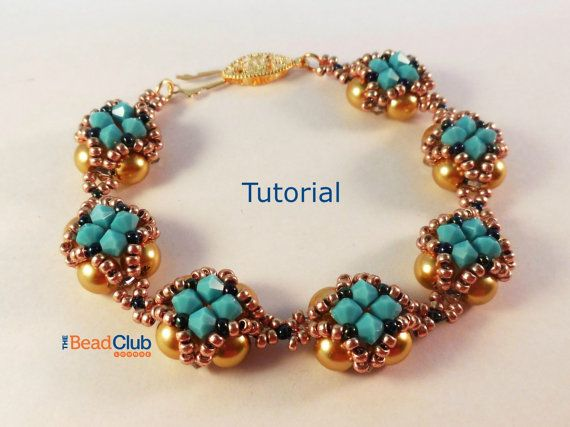 Right-Angle Weave Netting Bracelet Beading by TheBeadClubLounge