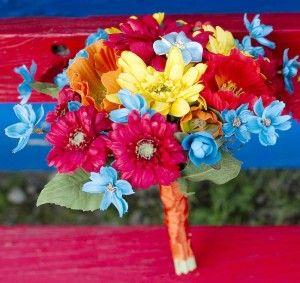 Retro Wedding Flower Bouquet, afloral.com