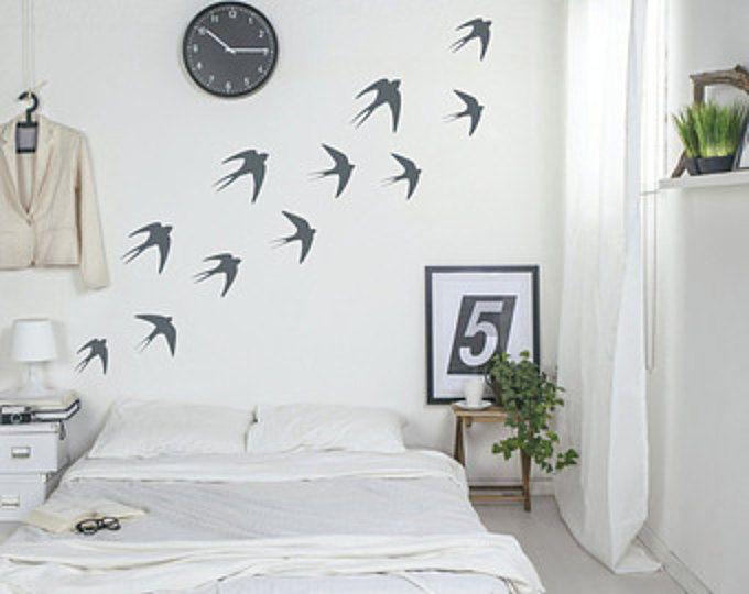 27 tatuajes de pared de golondrina volando aves pegatinas vinilo de pared