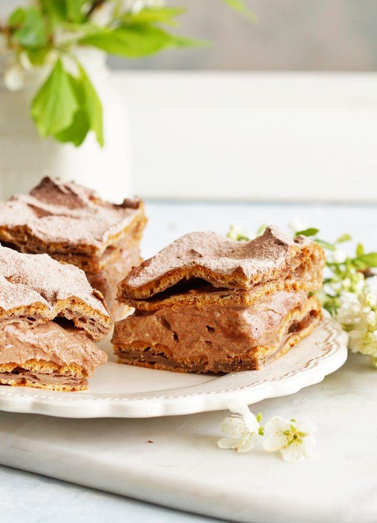 Karpatka czekoladowa - Ciastecznik. Z kremem budyniowo-kajmakowym.