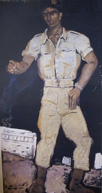 Soldier dancing zeibekiko, 1966 by Yannis Tsarouchis.