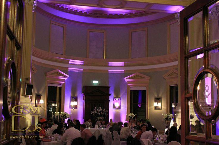 Wedding reception lighting at Customs House Brisbane | G&M DJs | Magnifique Weddings #gmdjs #magnifiqueweddings @gmdjs #customshouserestaurant