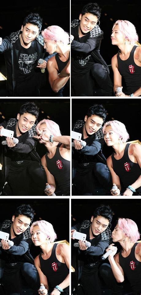 Seungri and GD. they look so cute  VICTORY
