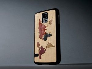 World Map Inlay - Samsung Galaxy S5 Matte Case