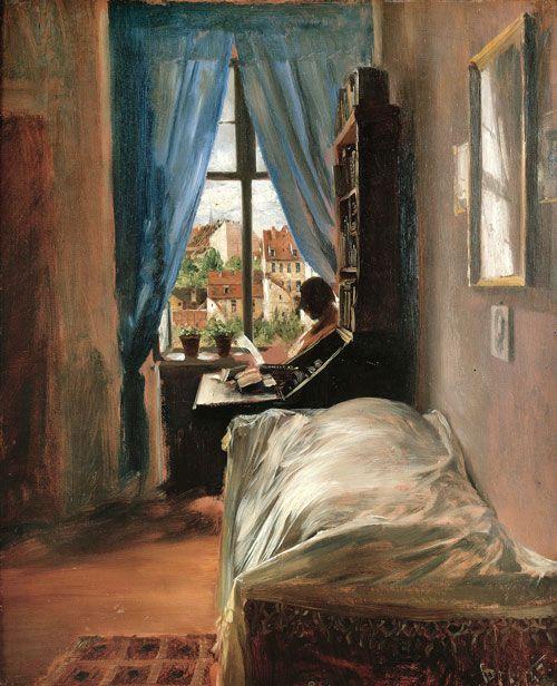 Adolph Menzel. The Artist's Bedroom in Ritterstrasse, 1847. Oil on cardboard, 22 x 18⅛ in. Staatliche Museen zu Berlin, Alte Nationalgalerie. Photo: Bernd Kuhnert.