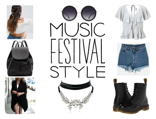 """""""Best Festival Trend"""" by gothicvamperstein on Polyvore featuring Miss Selfridge, Dr. Martens, Witchery, ASOS, Alice + Olivia, Leto, WithChic and festivalfashion"""