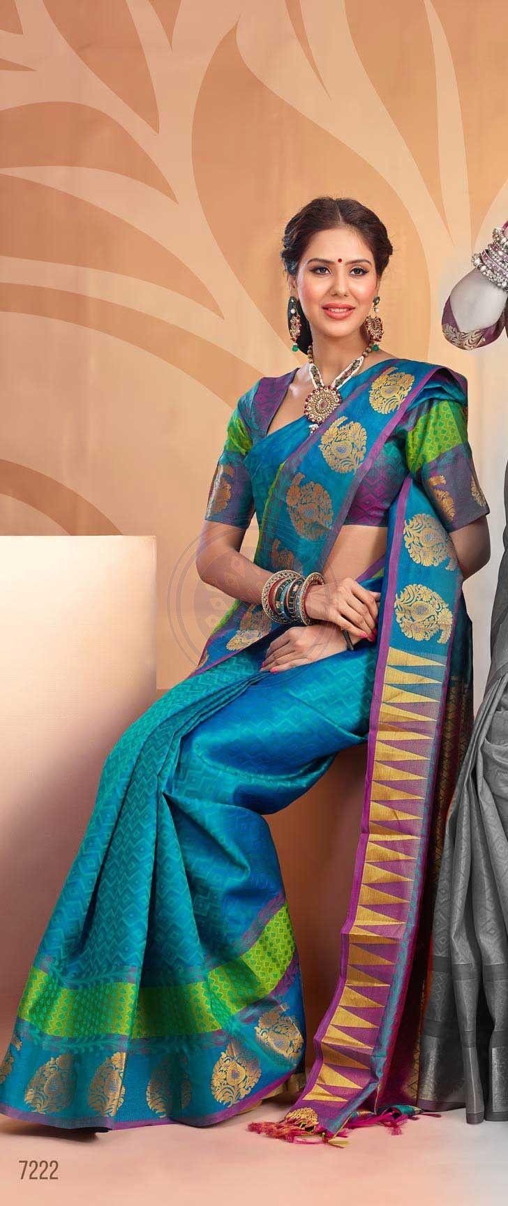 27 Best Silk Saress Images On Pinterest  Wedding Sarees -4935