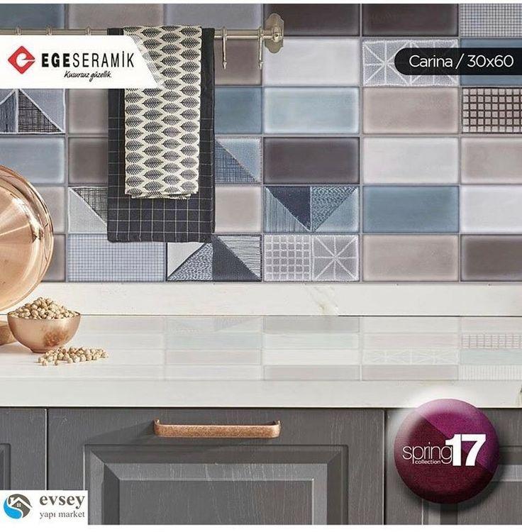 #pastel renkleri, #tekstil desenli dekorları ve camsı yüzeyli #parlak görünümü ile Carina, 30x60 ebatı ile #mutfak tezgah aralarında kullanılabileceği gibi #banyo içinde en #şık alternatiflerden biri. @egeseramik_as #architecture #architect #mimar #icmimar #yapı #market #seramik #ceramic #cam #dekorasyon #decoration #dekorasyonfikirleri #nature #mix #color #doğal #good #istanbul #turkey