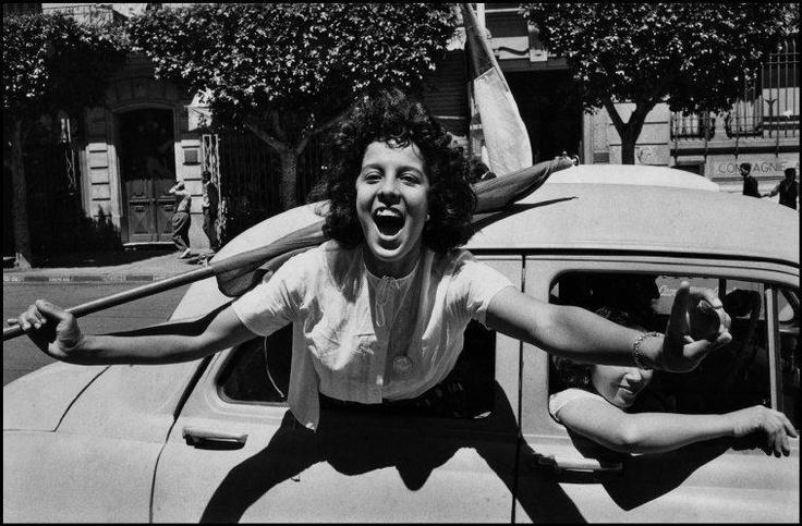 Independencia de Argelia  Fotografía: Marc Riboud - Argelia, julio 2 1962