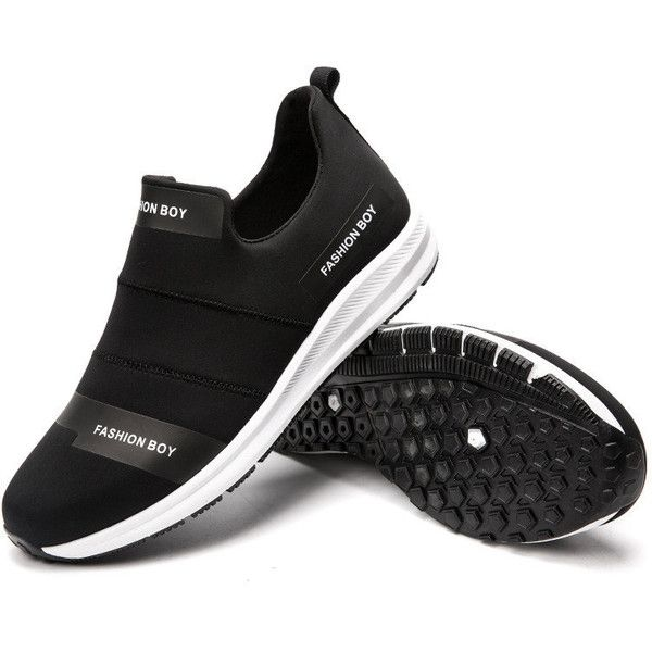 Stretch Elastic Fabric Water Resistant Gym Sneakers Sport ...
