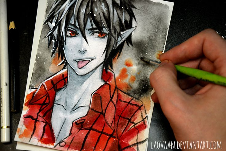 Marshall Lee - Adventure Time by Laovaan from deviant art