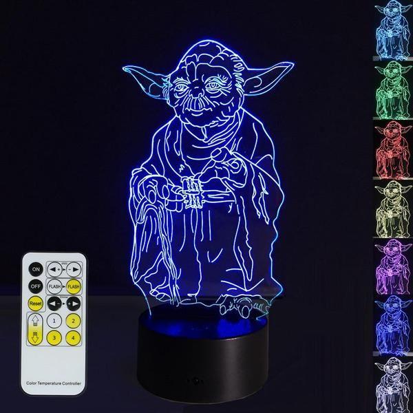 3D POSING YODA LED LAMP