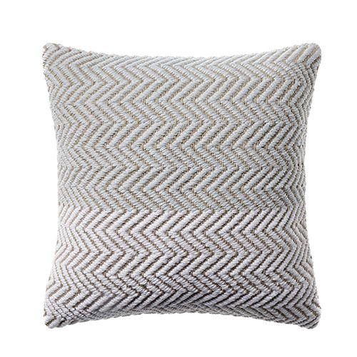 Ava Chevron Cushion Pale Blue
