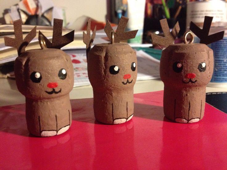 Ed ecco anche le renne! - decorazioni natalizie tappi di sughero