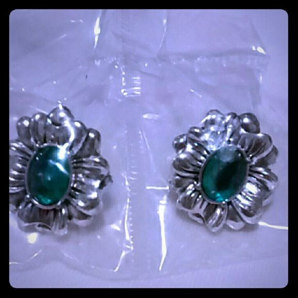 Earrings Antiqued floral December birth stone color earrings, still new in wrapper and box Avon Accessories