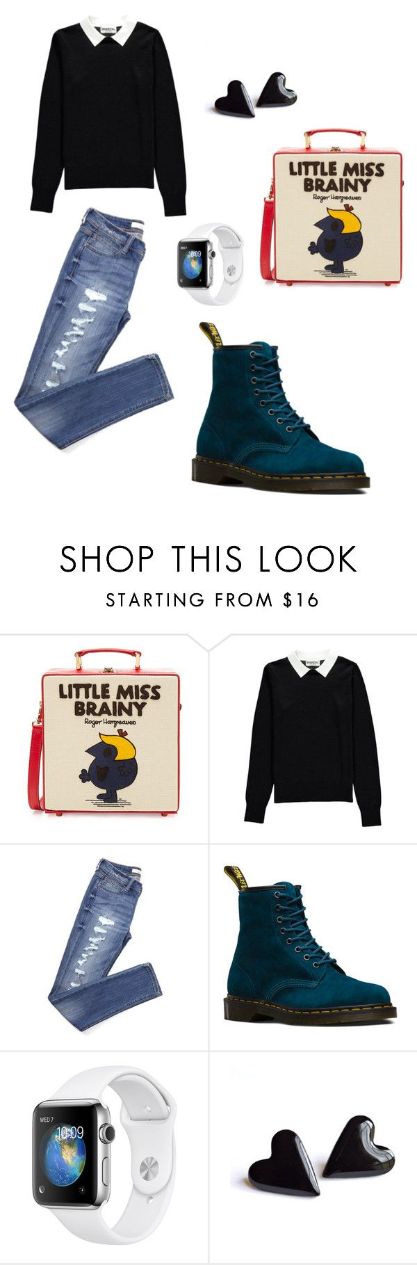 """""""Lil Miss"""" by redbone1961114 on Polyvore featuring Olympia Le-Tan, Essentiel and Dr. Martens"""