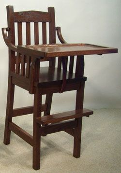 Oak - Mission High Chair - Mission Furniture