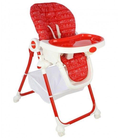 Kraft 2360 Plum Mama Sandalyesi Kırmızı Gümüş